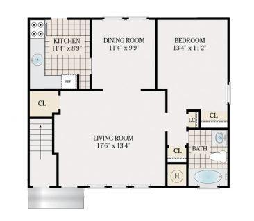 1 Bedroom deluxe 845 sq.ft.
