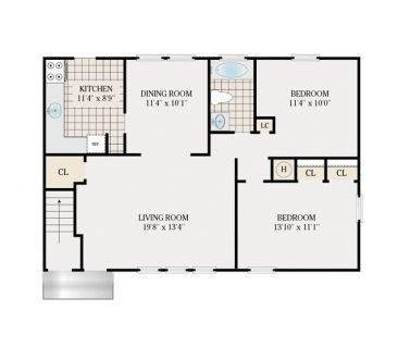 2 Bedroom 1020 sq.ft.